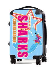 Savannah Sharks Cheerleading Custom and Personalized Luggage.