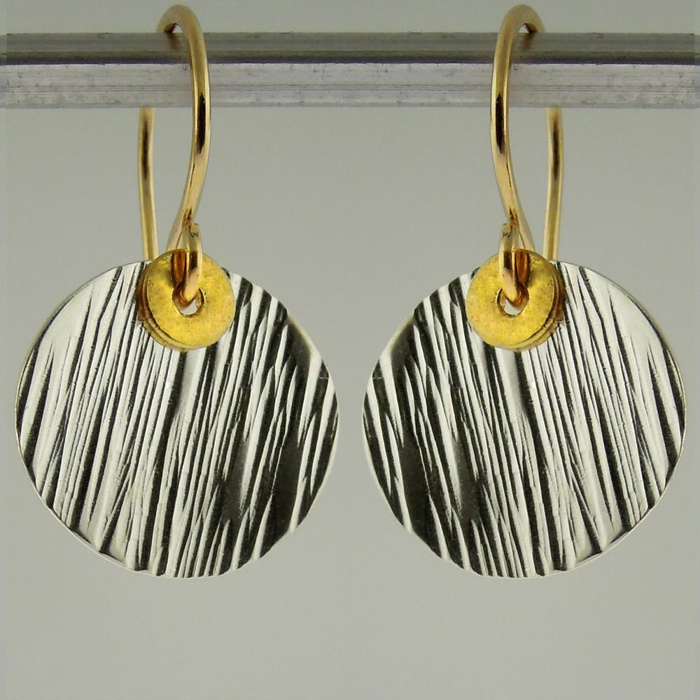 disquette 2 woody - 1/2'' earrings