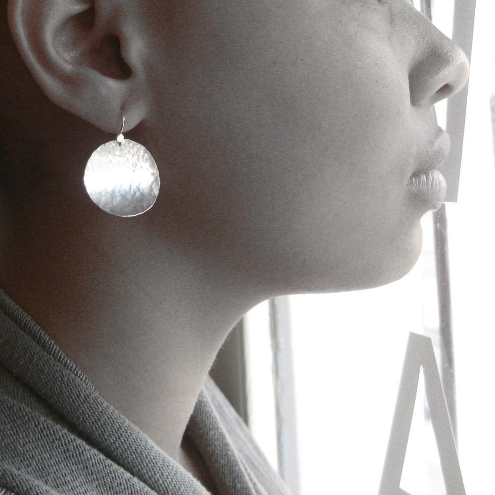 disquette 4 pebble - 1'' earrings