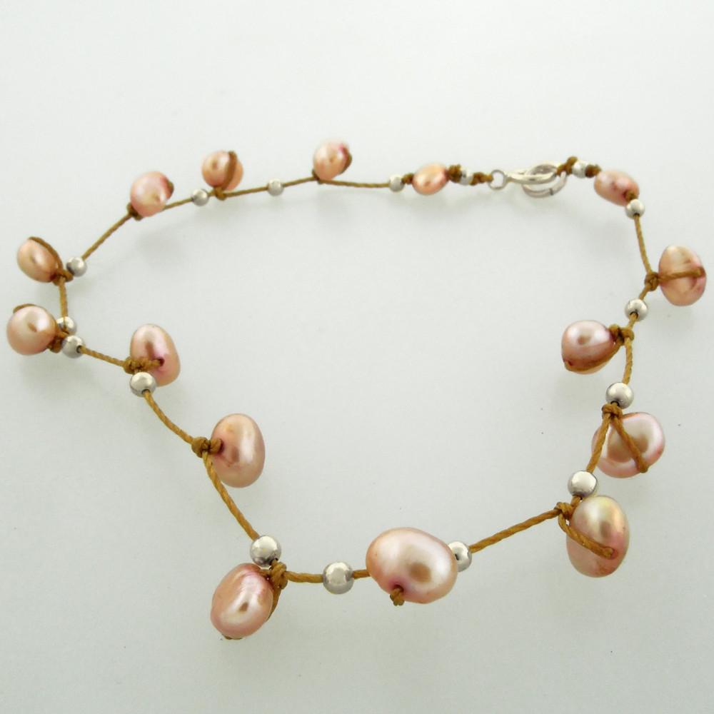 celestial plus - pearl rose 4mm bracelet