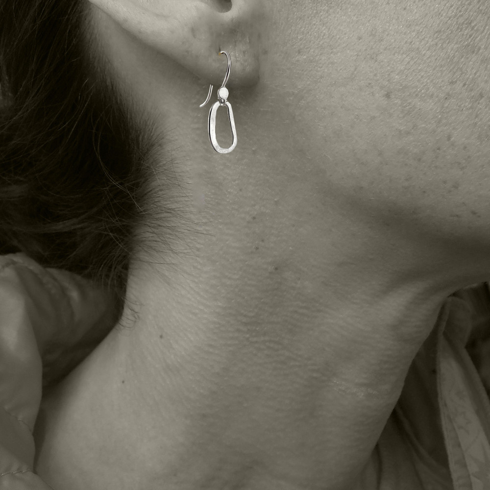 pic of model sporting matching earrings  - this is for size reference only.