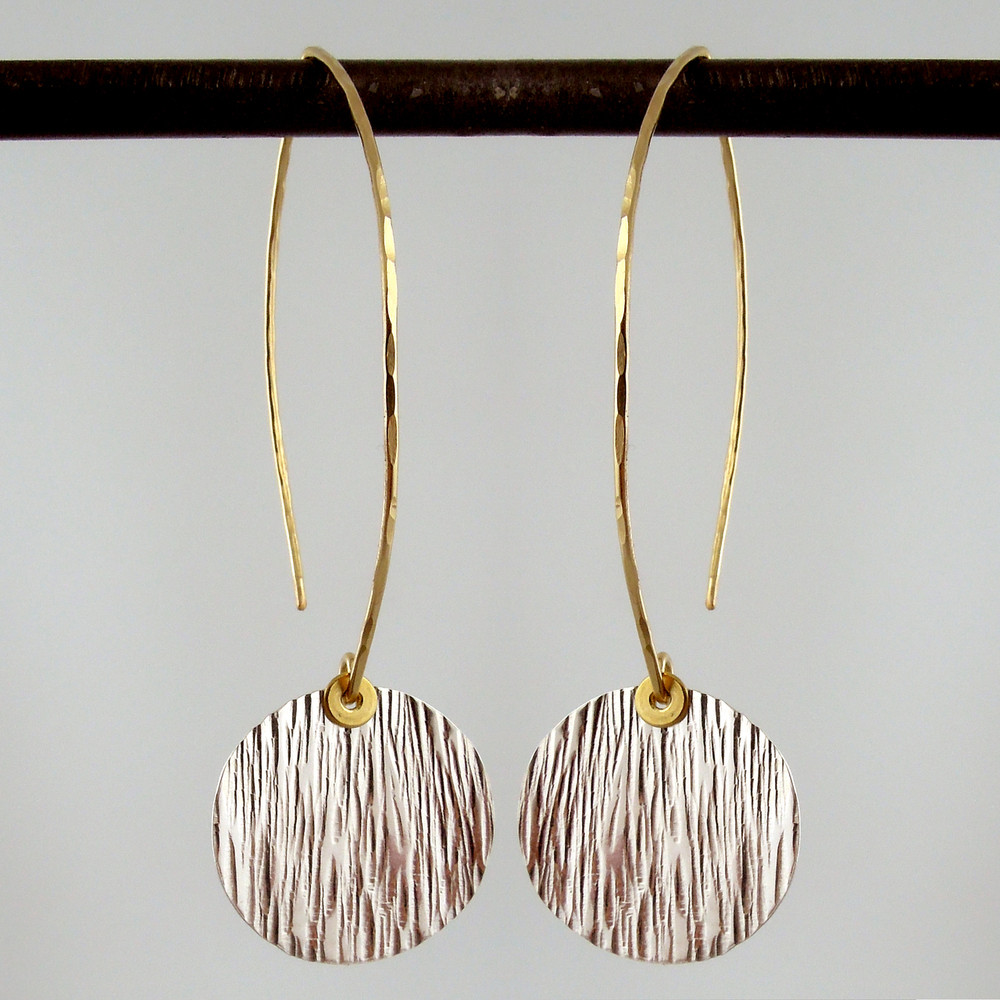 ARC disquette 3 woody SS - earrings