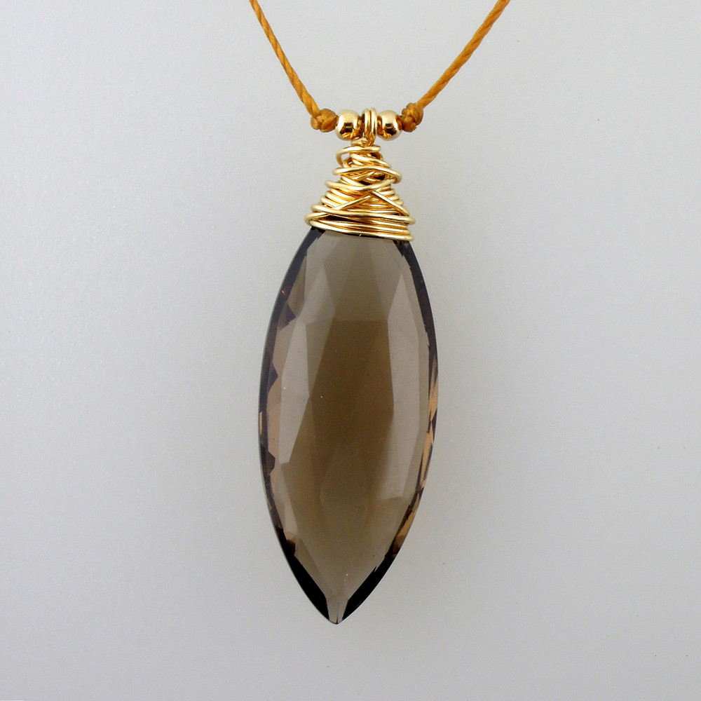 Smoky Quartz Marquis in 14kt gold fill