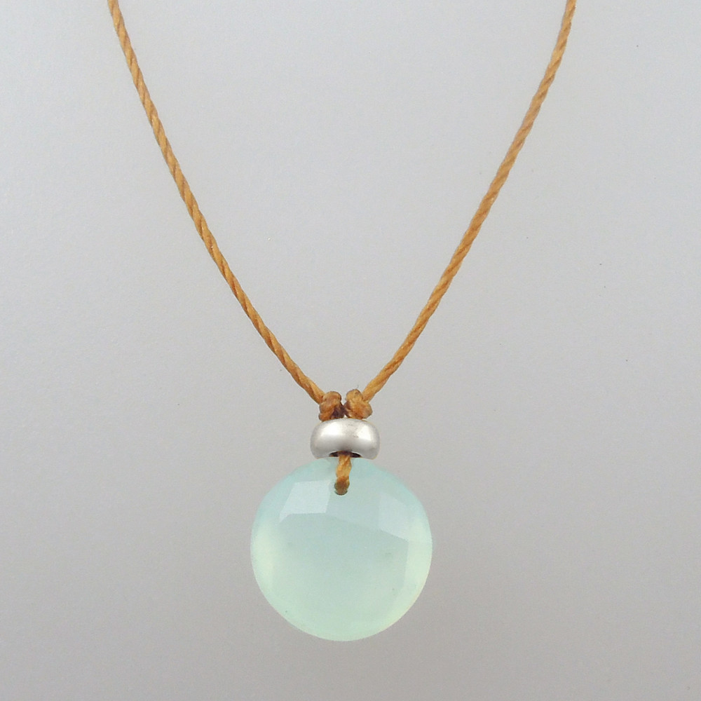 ocean green chalcedony with sterling accent