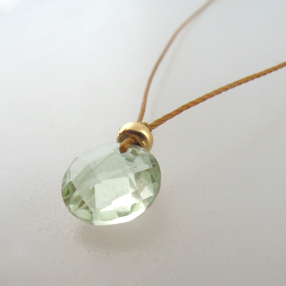 Prasiolite with 14kt gold fill accents