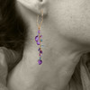 MODEL IS WEARING AMETHYST LATHAM HOOPS - FOR SIZE REFERENCE