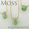 solo nugget  moss aquamarine step cut