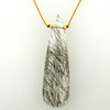 long teardrop - rutile quartz 15c