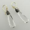 messy bessy short teardrop - quartz crystal  ER 18k