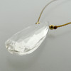 solo elongated teardrop - crystal quartz 8c