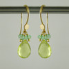 splish splash - lemon quartz/colombian emerald 18kt ER teardrop 2ct