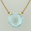 solo cushion - sky blue topaz 5c