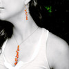 Model is wearing Latham FALL ER hoops and Mini Milky Way necklace for size reference only...