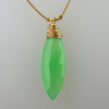 Marquis 14kt gold fill Chrysoprase