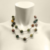 bust duster necklace - jasper mix - 38""