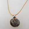 black rutile quartz with sterling accents