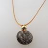 black rutile quartz with 14kt gold fill accents