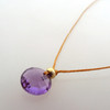 Amethyst cutie Pie Necklace with 14kt gold fill accents
