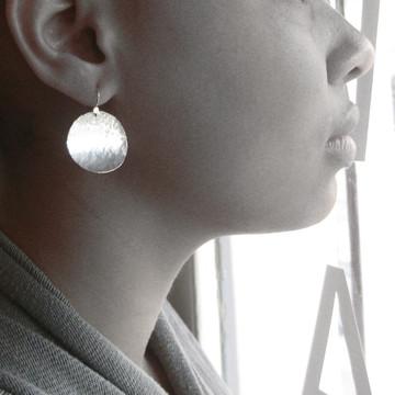 "disquette 4 woody - 1"" earrings"