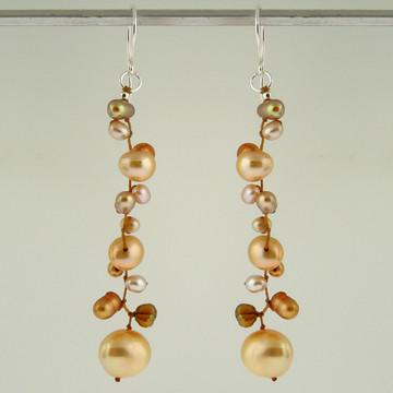latham pearl champagne earrings