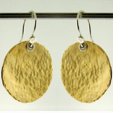 disquette 4 pebble GF - 1'' earrings