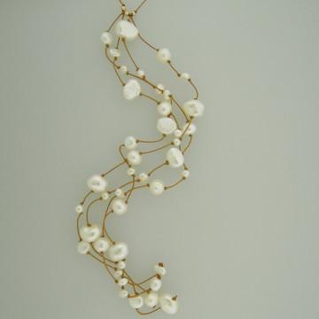 milky way cascade - pearls - white