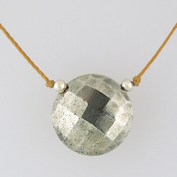 solo luxe coin - pyrite 12mm