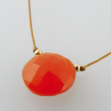 solo luxe coin - carnelian 12mm