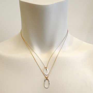 pic of model sporting necklaces  - this size is on the top - for size reference only.