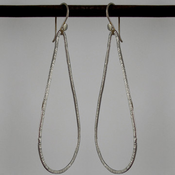 Oxidized Argentium Sterling teardrop earrings