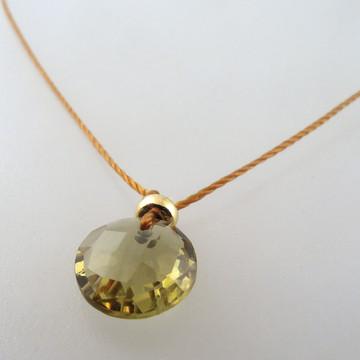 olivine quartz with 14kt goldf fill accents