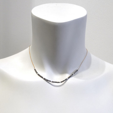 HALO necklace shown in 14kt GF