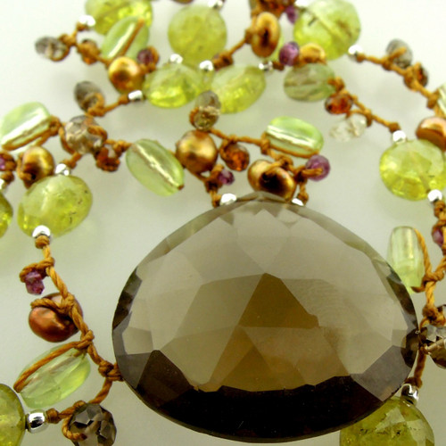 galaxy pendant - smoky quartz