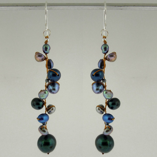 latham pearl blue earrings