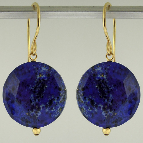 luxe coin - lapis - earrings 18c
