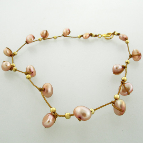 celestial plus - pearl rose 4mm bracelet