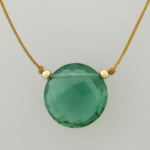 solo luxe coin - indicolite quartz 12mm