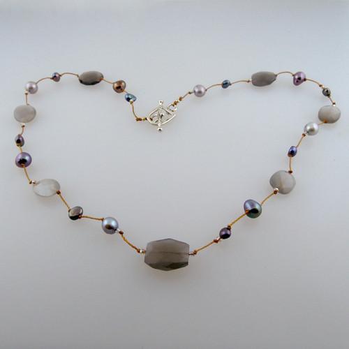 "delicata - gray moonstone pearl mix 16-20"""