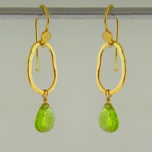 bling gem drop (wee) 18kt peridot