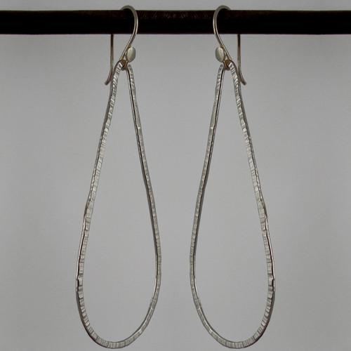 Oxidized Argentium Sterling teardrop earrings