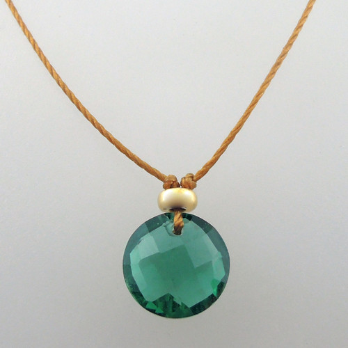green quartz in 14kt gold fill