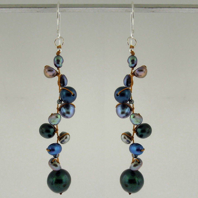 latham pearl blue earrings