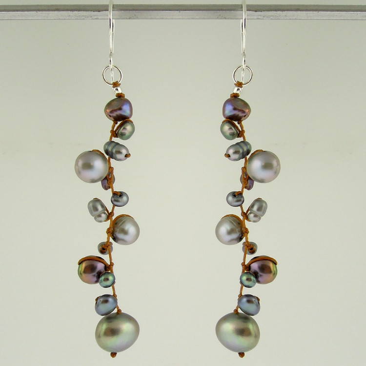 latham pearl grey earrings