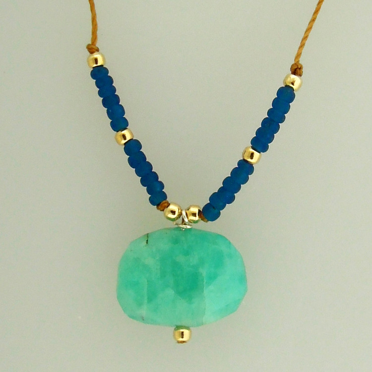 mingle - slice amazonite/indigo