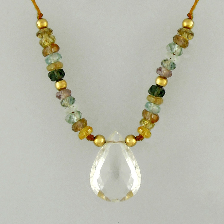mingle mix - teardrop white topaz 4c
