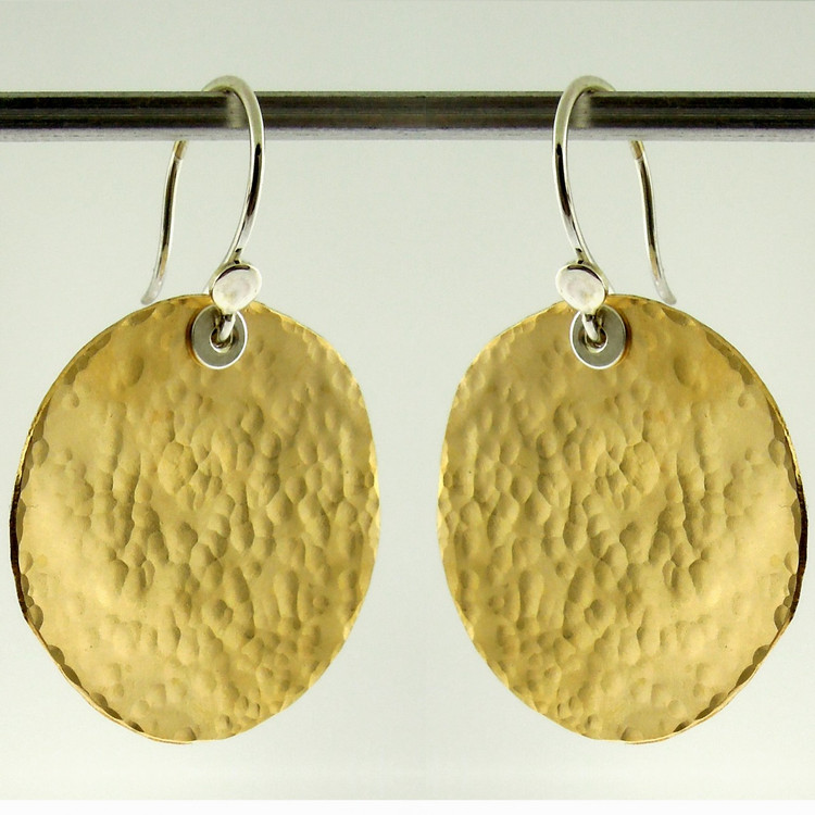 disquette 4 pebble GF - 1'' earrings