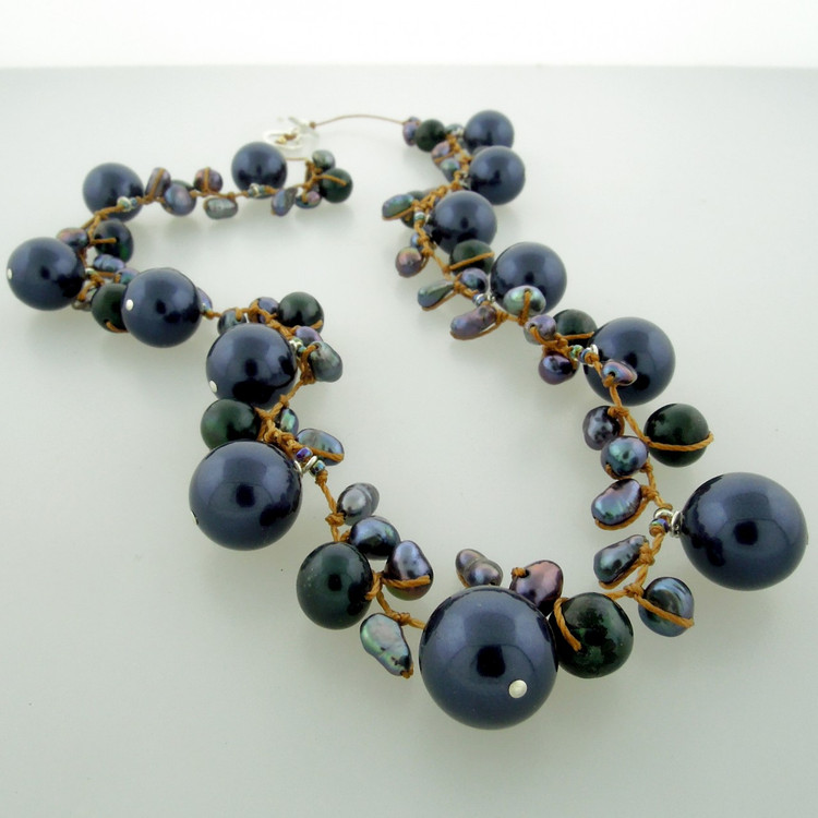 galaxy pearl - blue 10mm