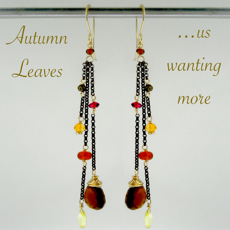 dancing queen - tango cognac quartz OX earrings