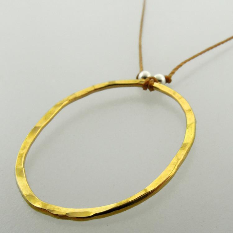 oval bling 3 18kt