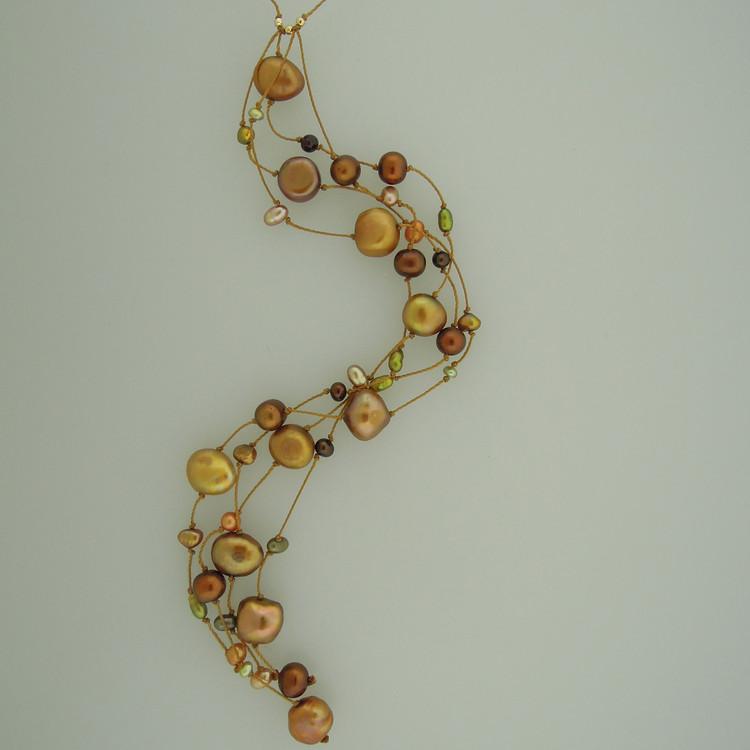 milky way cascade - pearls - bronze